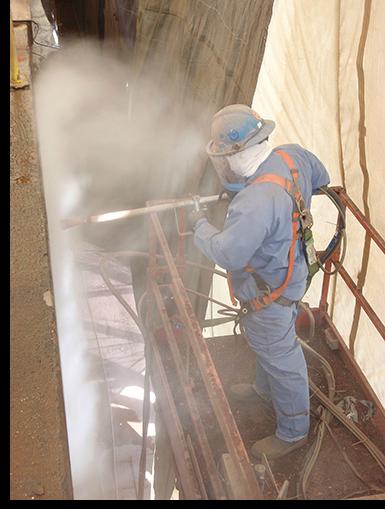 Preparação de superfícies de aço por meio de Hidrojateamento